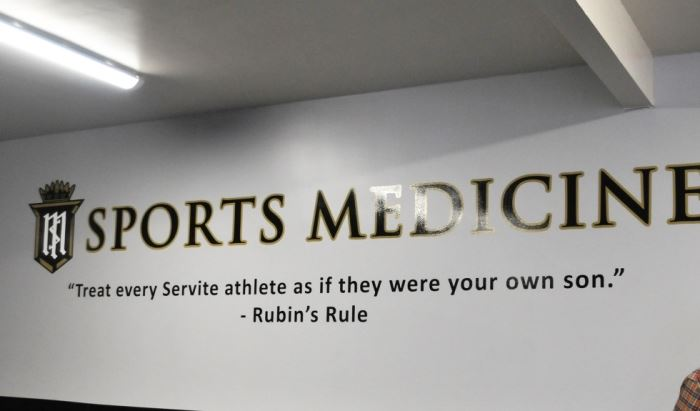 "sports medicine - ""Treat every Servite athlete as if they were your own son."""